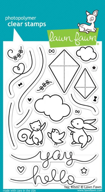 LF1169 ~ YAY, KITES! ~ CLEAR STAMPS BY LAWN FAWN
